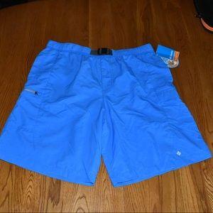 NWT Columbia Men's Swim Shorts Trunk Blue sz Large
